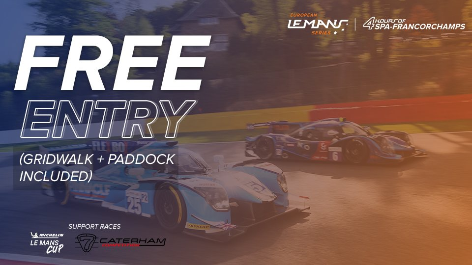 The #4HSPA race weekend will be FREE entry (Gridwalk + Paddock included)!