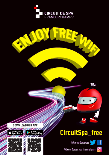 The Circuit of Spa-Francorchamps is offering free WiFi