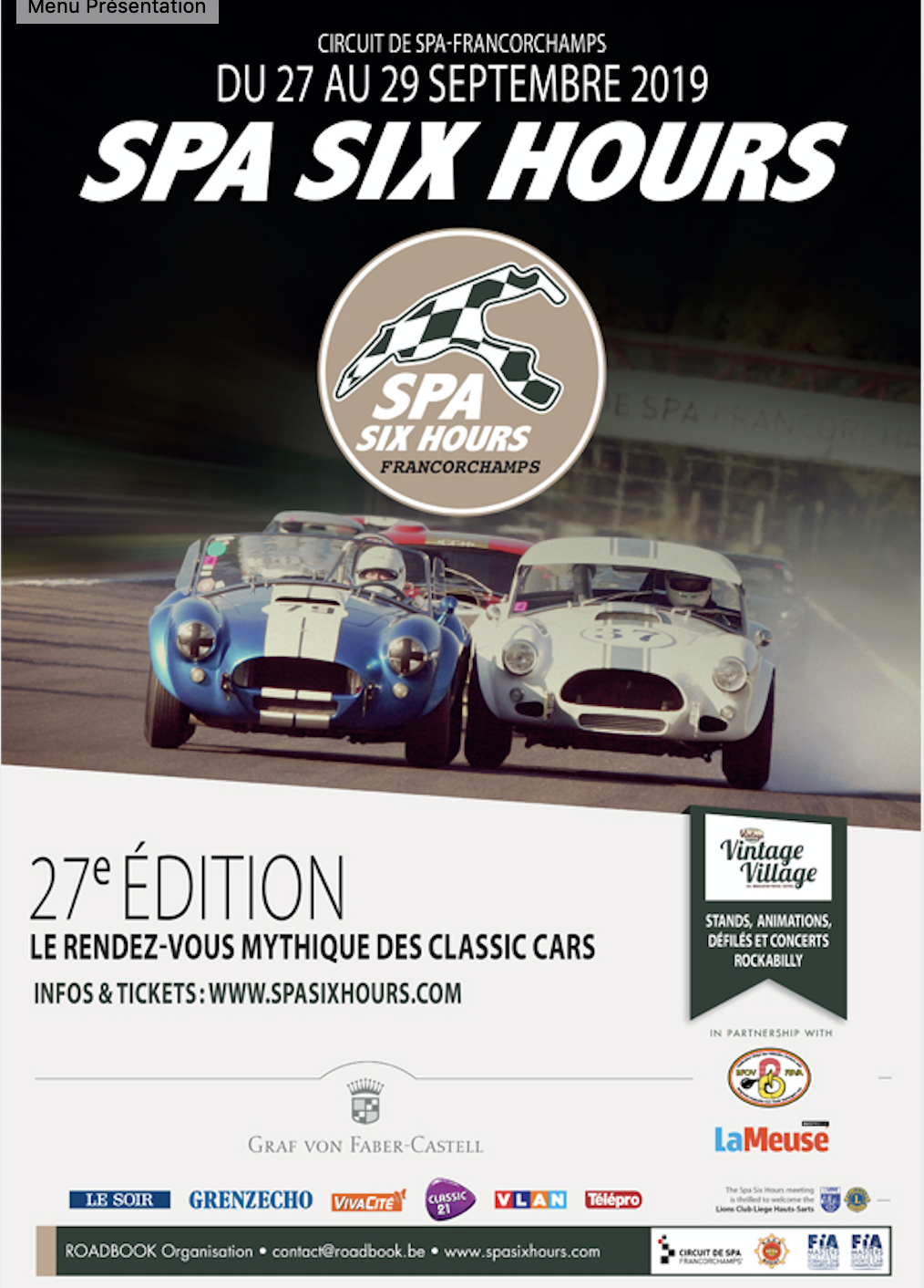 Spa Six Hours - Non-stop activities for 5 days !