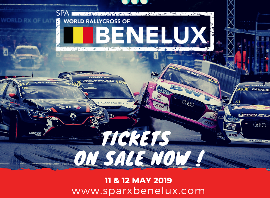 La billetterie du Spa World Rallycross of Benelux est ouverte