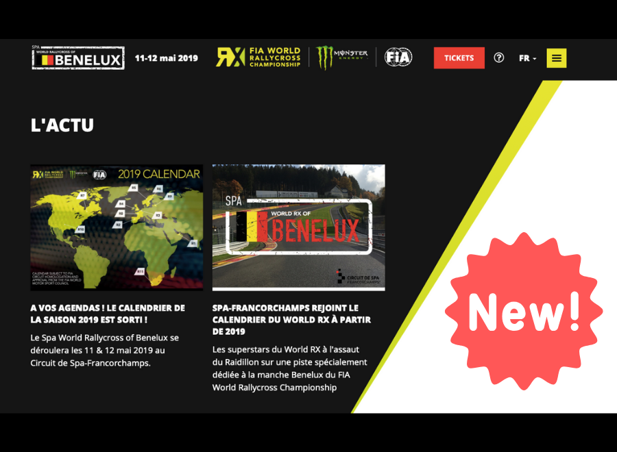 Lancement du site internet du Spa World Rallycross of Benelux