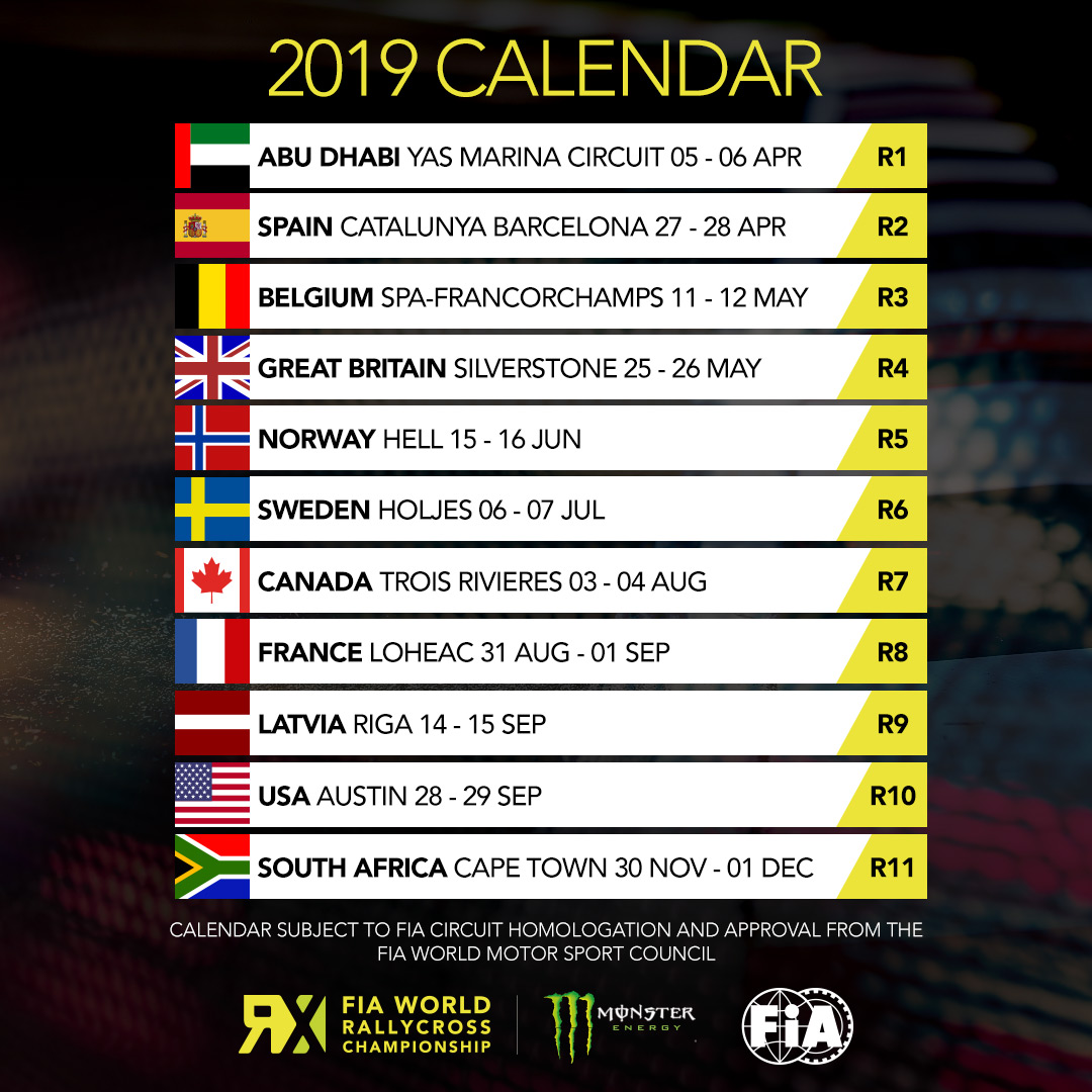 Spa Francorchamps Calendrier 2019.Spa Word Rallycross Of Benelux 11 12 May 2019