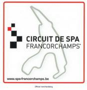 "STICKER LOGO ""CIRCUIT DE SPA-FRANCORCHAMPS"" + CIRCUIT + RED FRAME (15 X 15cm) 1"