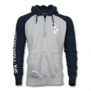 "SWEAT GREY/ DARK BLUE SHORT ZIPPER EMBROIDERED LOGO ON CHEST ""SPA-FRANCORCHAMPS"" ENTIRE ARM 1"