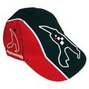 "CAP FUN BLACK/ RED ""CIRCUIT DE SPA-FRANCORCHAMPS""-1 SIZE FITS ALL (52cm) ADJUSTABLE 1"