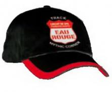 "CAP BLACK ""EAU ROUGE""  CIRCUIT DE SPA-FRANCORCHAMPS-1 SIZE FITS ALL (52cm) ADJUSTABLE 1"