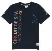 "KIDS T-SHIRT DARK BLUE  WITH MULTICOLORE TEXT ""CIRCUIT DE SPA FRANCORCHAMPS"" AND LOGO'S ON SLEEVES 1"