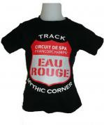 "T-SHIRT KIDS BLACK ""EAU ROUGE"" 1"