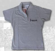 POLO WOMEN GREY 100% COTON  LOGO EMBROIDERED ON CHEST 1