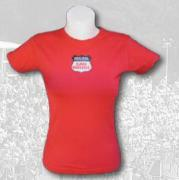 "T-SHIRT WOMEN RED ""EAU ROUGE"" 1"
