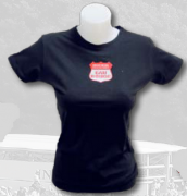 "T-SHIRT WOMEN BLACK ""EAU ROUGE"" 1"