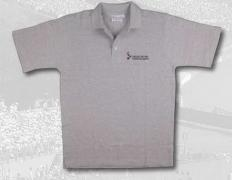 POLO MEN GREY 100% COTON  LOGO EMBROIDERED ON CHEST 1