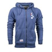 HOODIE ZIP FASTENING LOGO EMBROIDERED ON CHEST BLUE 1