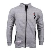 CARDIGAN (GILET) ZIP FASTENING  LOGO EMBROIDERED ON CHEST LIGHT GREY 1